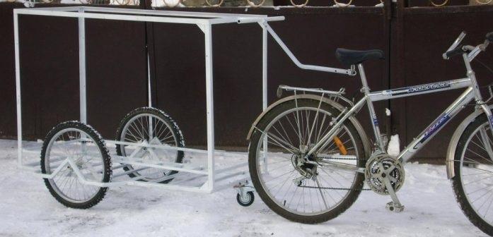Прицеп к велосипеду - обзор, разновидности, преимущества и недостатки